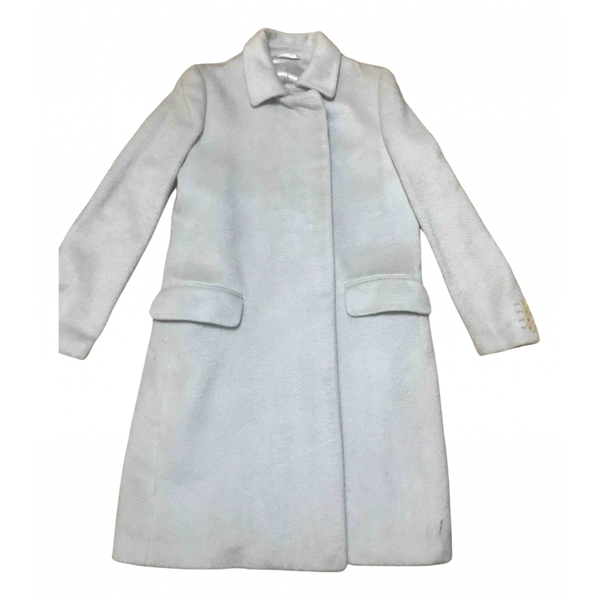 Helmut Lang N Silver Silk coat for Women 42 IT