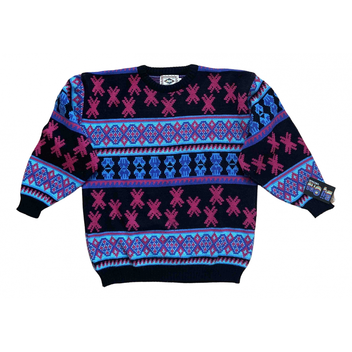 Non Signé / Unsigned Hippie Chic Pink Cotton Knitwear for Women M International