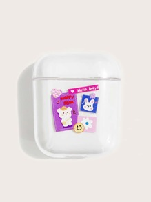 Cartoon & Letter Graphic AirPods Case