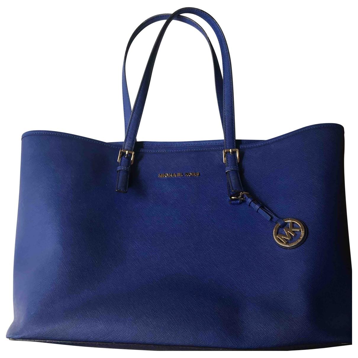Michael Kors Jet Set Blue Leather handbag for Women \N