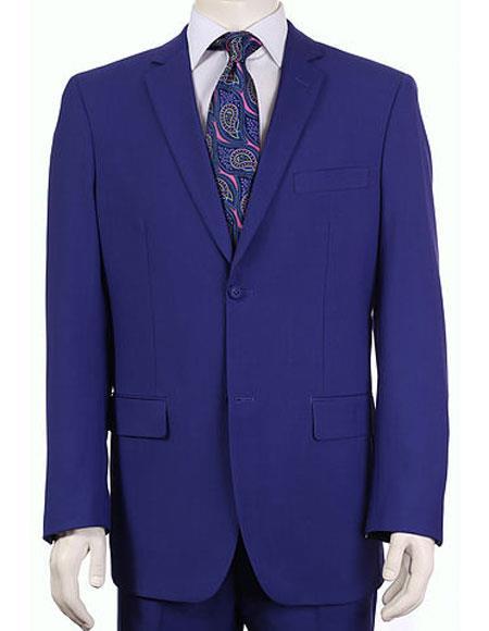Men's Vitali Single Breasted Authentic 2 Button Saphire Slim Fit Suit