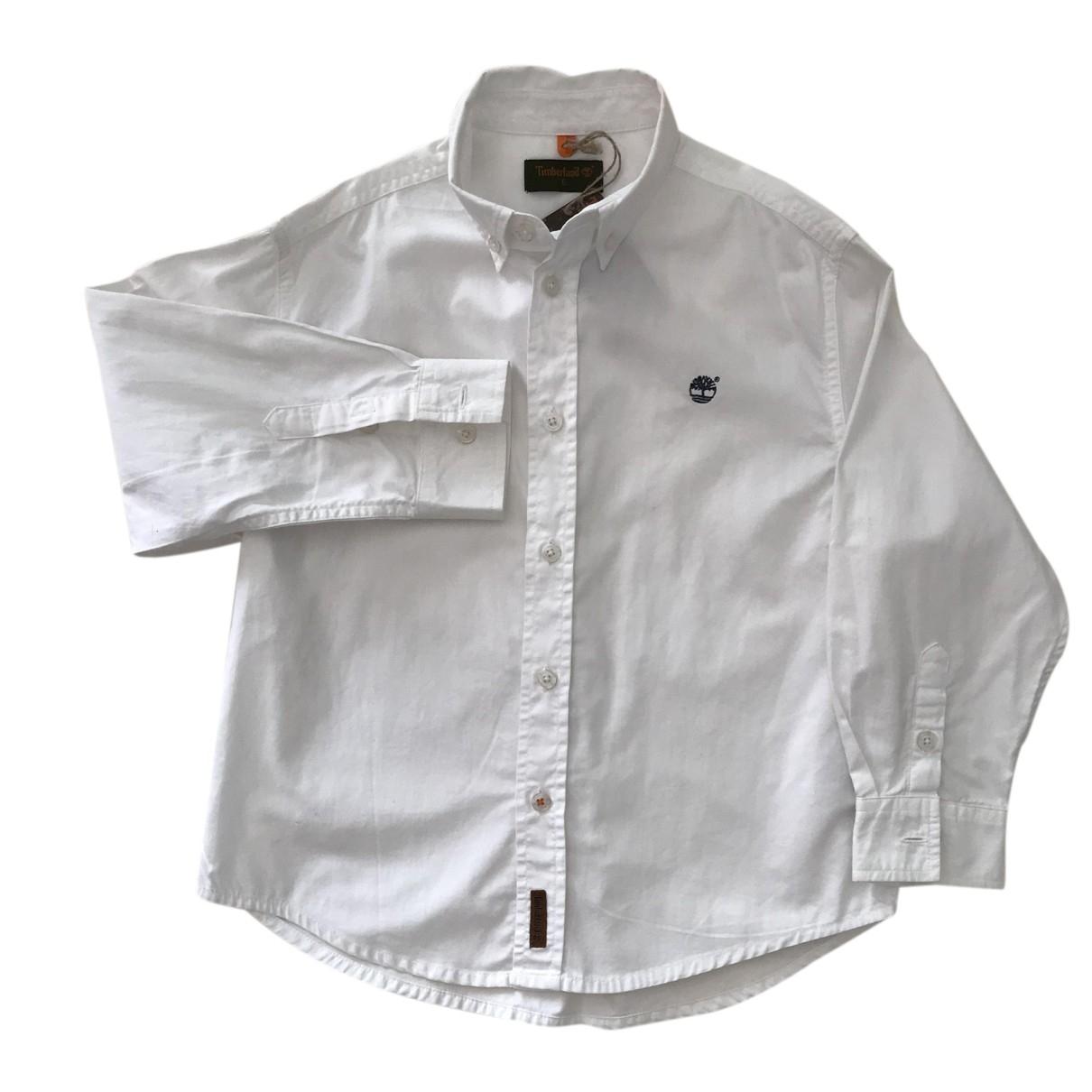 Timberland - Pull   pour enfant en coton - blanc