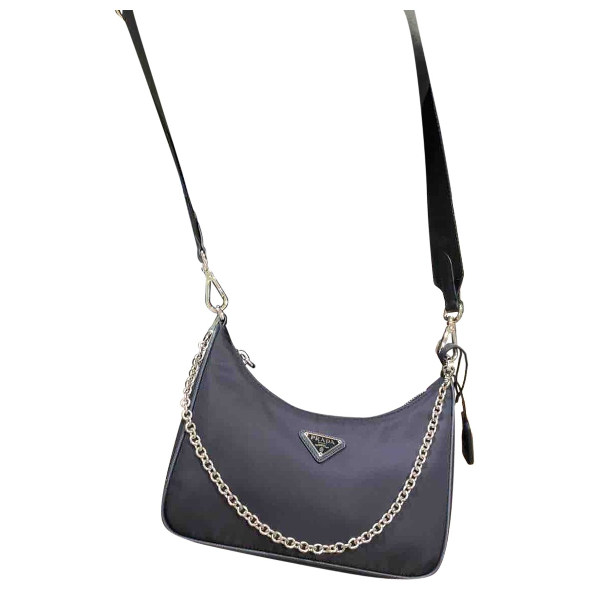 Prada Re-edition Blue Cloth handbag for Women \N