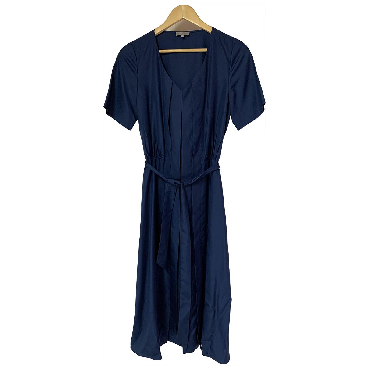 Margaret Howell \N Blue Silk dress for Women 8 UK