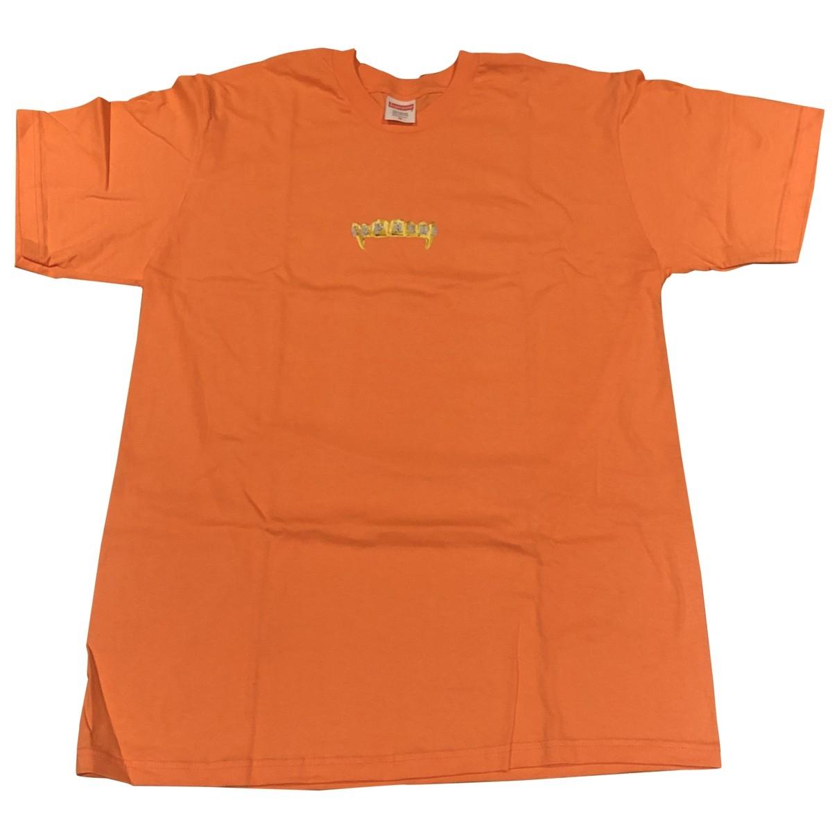 Supreme \N T-Shirts in  Orange Baumwolle