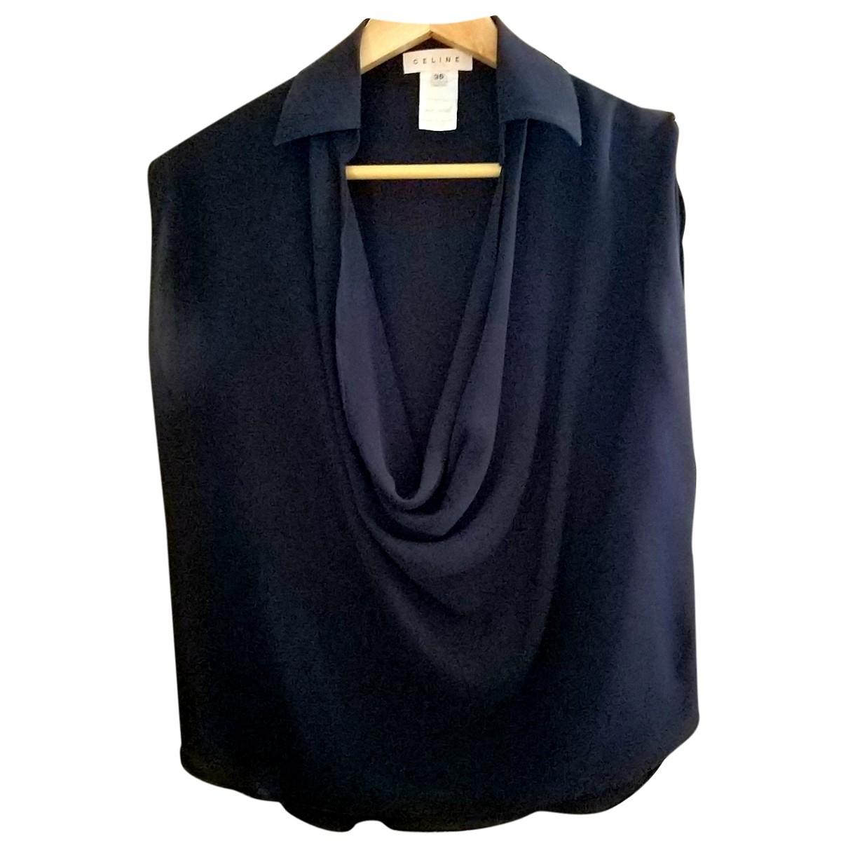 Celine \N Black Silk  top for Women 36 FR
