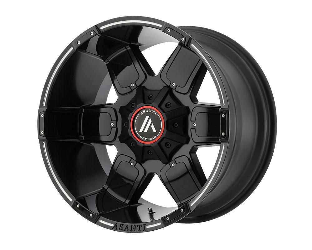 Asanti AB811-20108824NBM Off-Road AB811 Warthog Wheel 20x10 8x8x180 -24mm Satin Black Milled