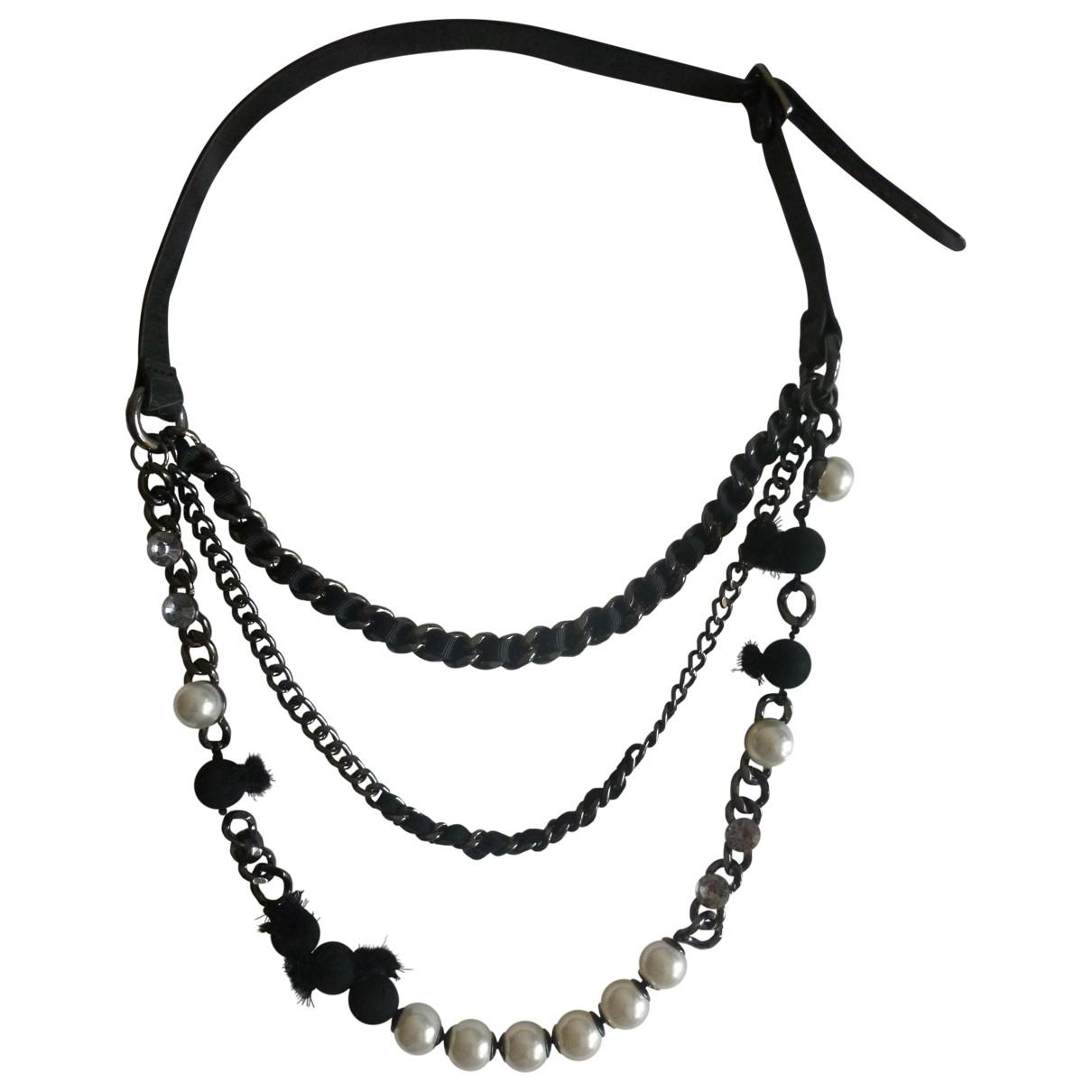 Zara - Collier   pour femme en metal - noir