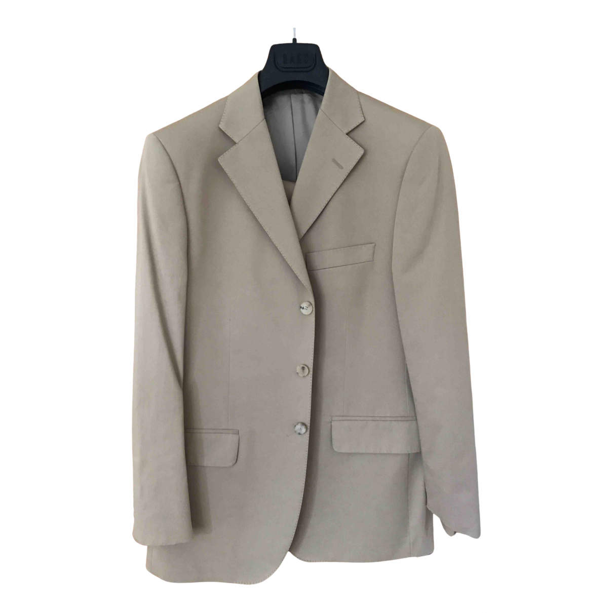 Daks N Beige Cotton Suits for Men 40 UK - US
