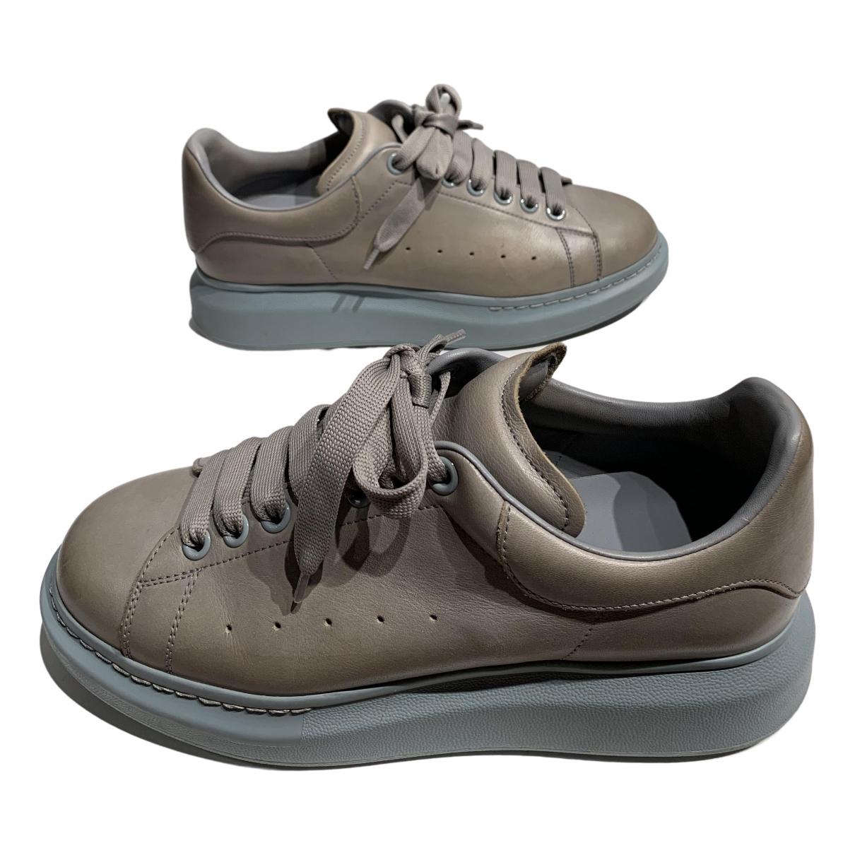 Alexander Mcqueen - Baskets Oversize pour homme en cuir - gris
