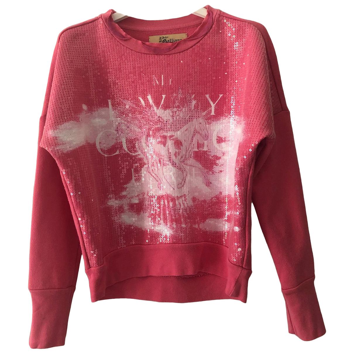 John Galliano - Pull   pour enfant en coton - rose