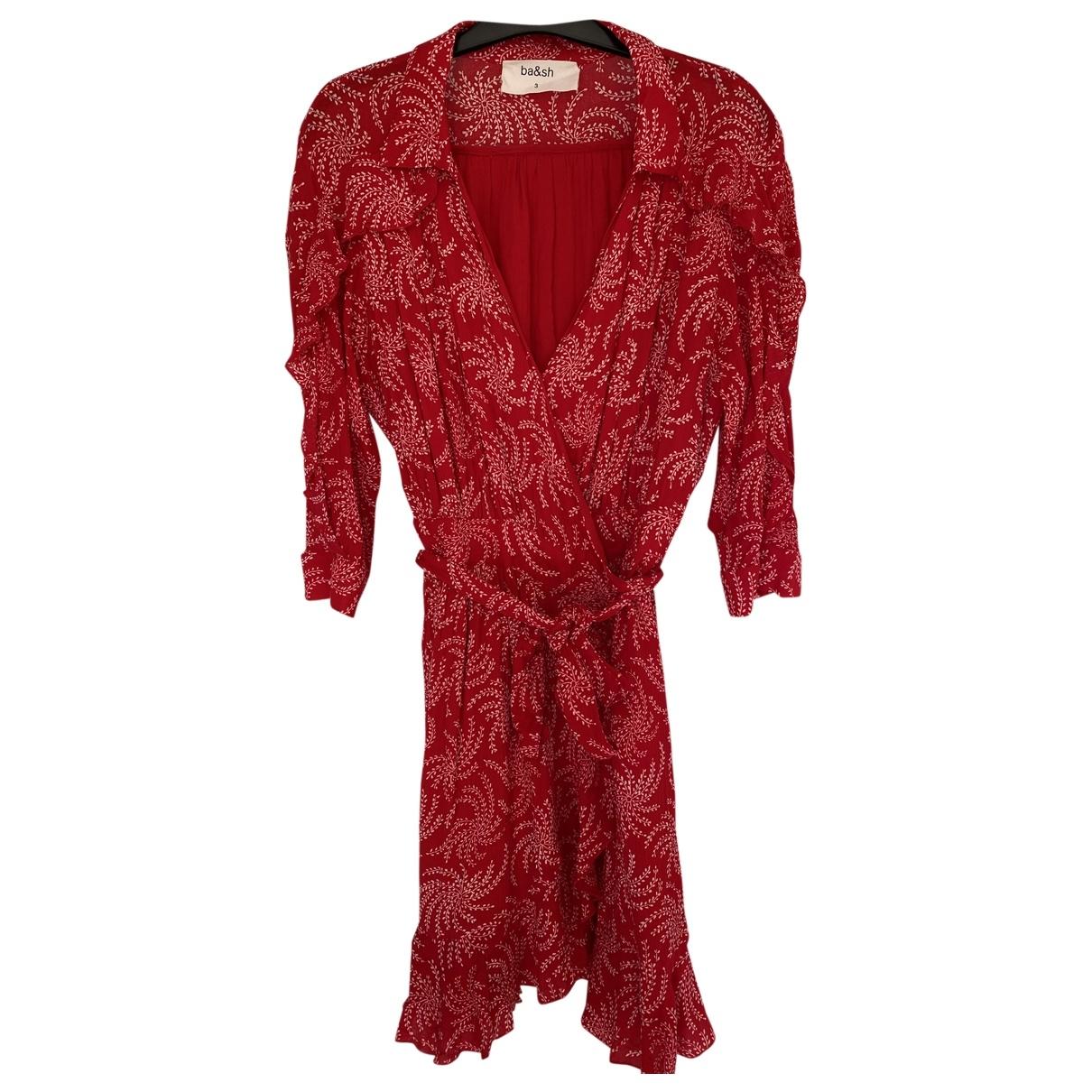 Ba&sh Spring Summer 2019 Kleid in  Rot Viskose