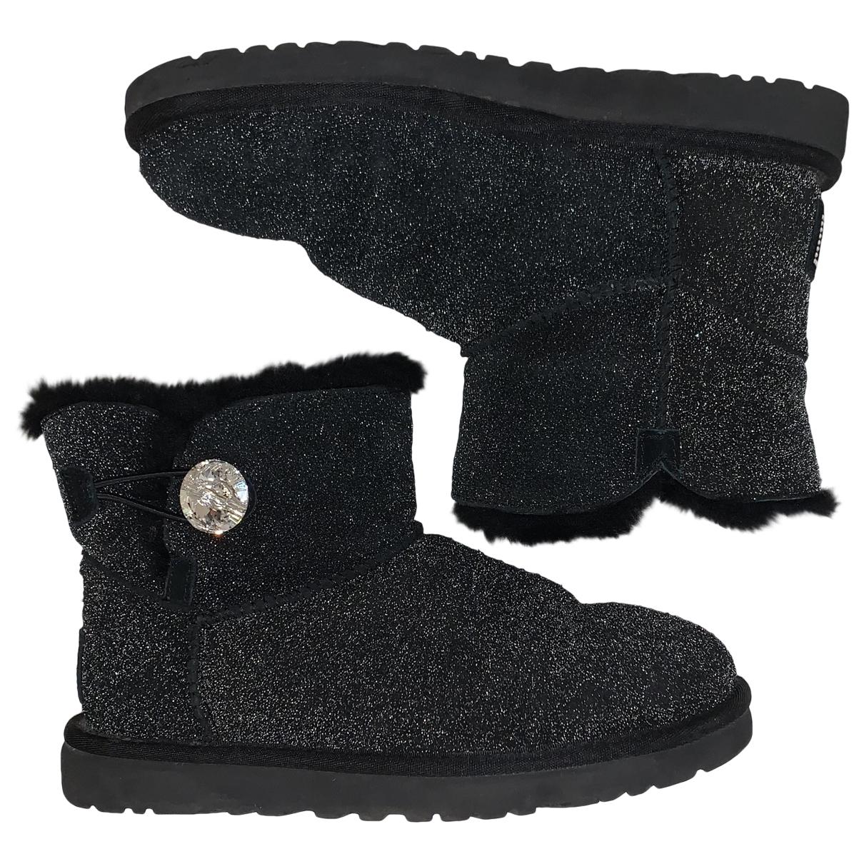 Ugg - Boots   pour femme en fourrure - noir