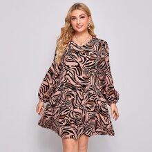 Kleid mit Zebra Muster