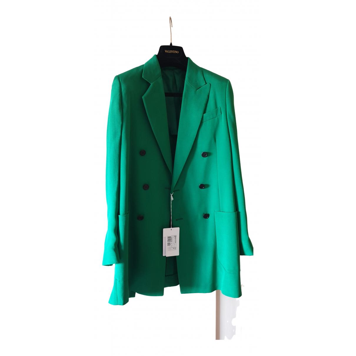 Valentino Garavani N Green Silk jacket for Women 40 IT