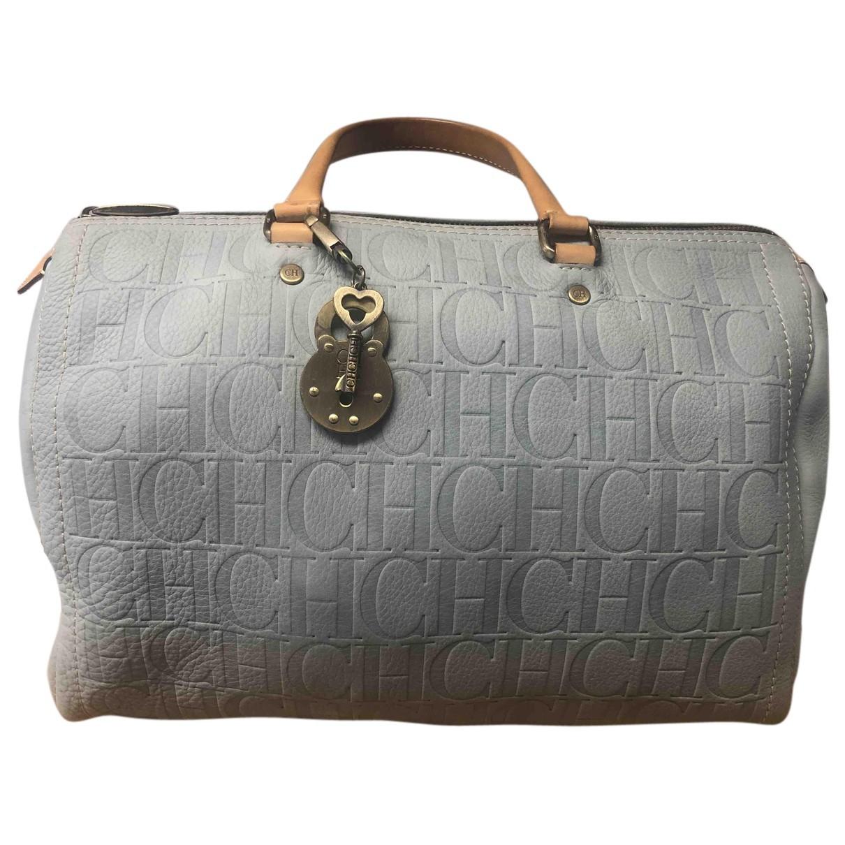 Carolina Herrera N Blue Leather handbag for Women N
