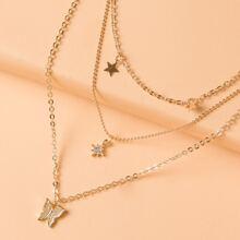 Halskette mit Stern Dekor