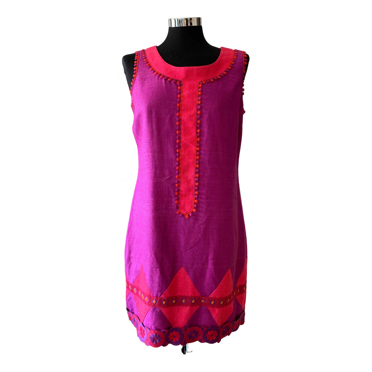 Anna Sui \N Kleid in  Rosa Seide