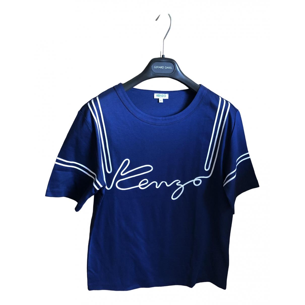 Kenzo - Top   pour femme en coton - bleu