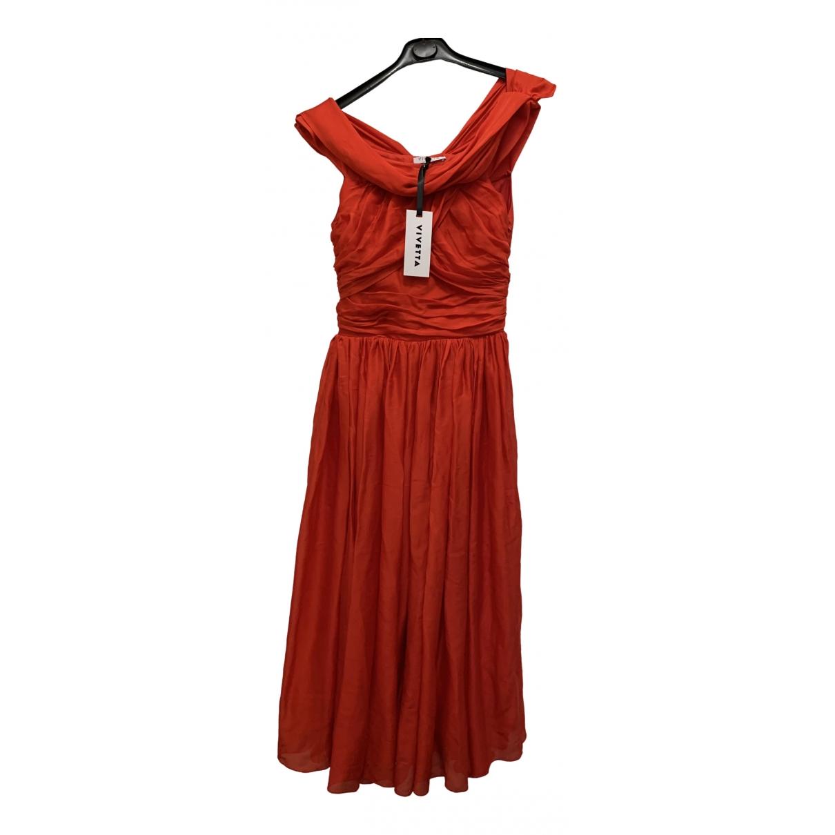 Vivetta \N Kleid in  Rot Seide