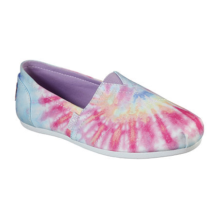 Skechers Bobs Womens Plush Grateful Day Closed Toe Slip-On Shoe, 7 1/2 Medium, Pink