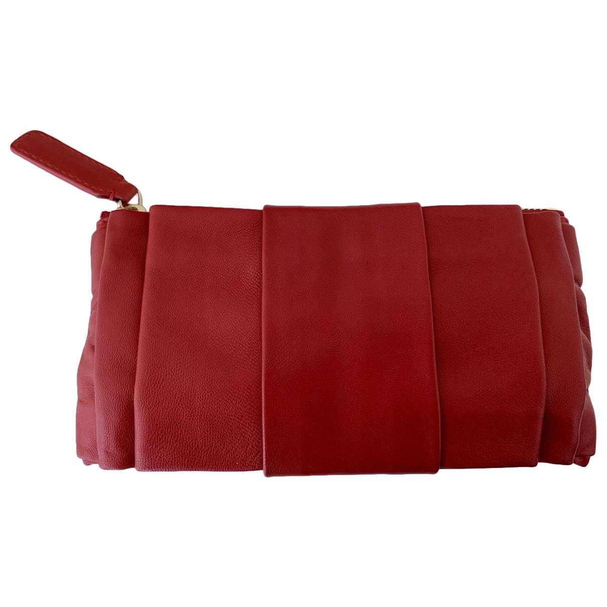 Valentino Garavani - Portefeuille   pour femme en cuir - rouge