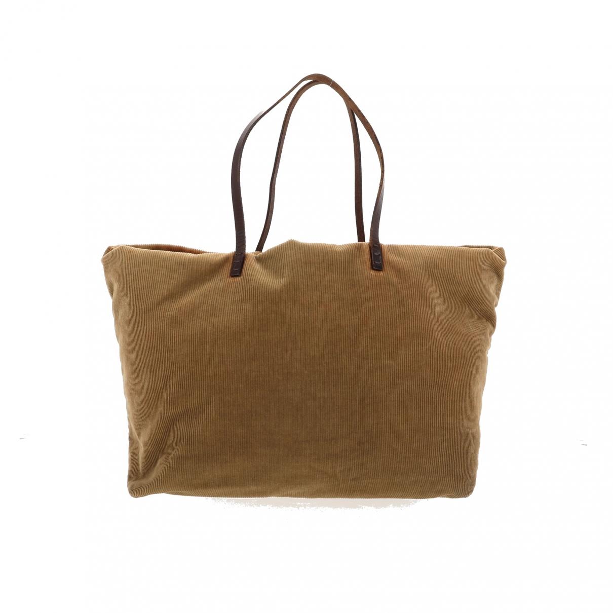 Fendi \N Beige Velvet handbag for Women \N