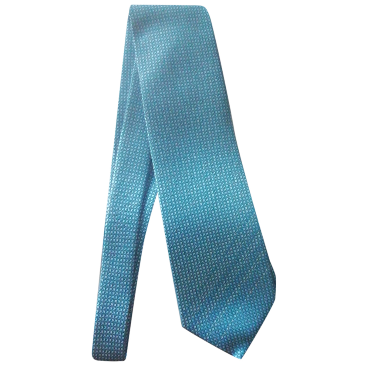 Bvlgari \N Krawatten in  Tuerkis Seide