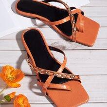 Sandalen mit Zehenpfosten und Lizard Grafik