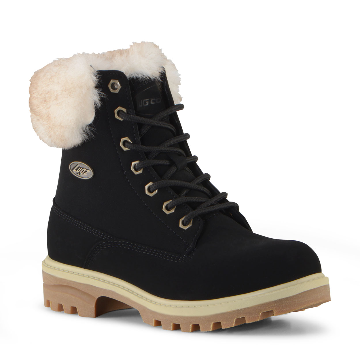 Women's Empire Hi Fur 6-Inch Boot (Choose Your Color: BLACK/CREAM/GUM, Choose Your Size: 10.0)