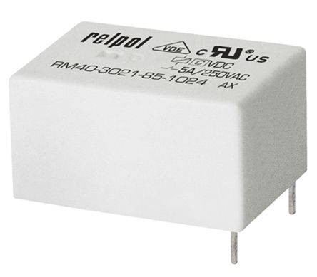 Relpol , 5V dc Coil Non-Latching Relay SPDT, 5A Switching Current PCB Mount Single Pole