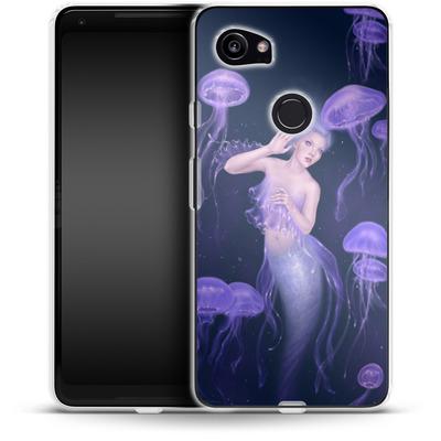 Google Pixel 2 XL Silikon Handyhuelle - Rachel Anderson - Bioluminescence von TATE and CO