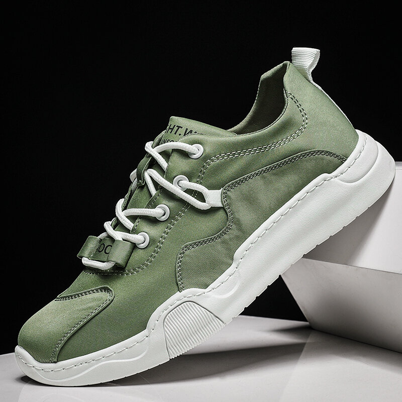 Men Comfy Ice Silk Cloth Breathable Sport Casual Shoes
