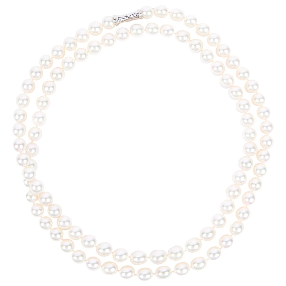 Tasaki - Collier   pour femme en perles - blanc