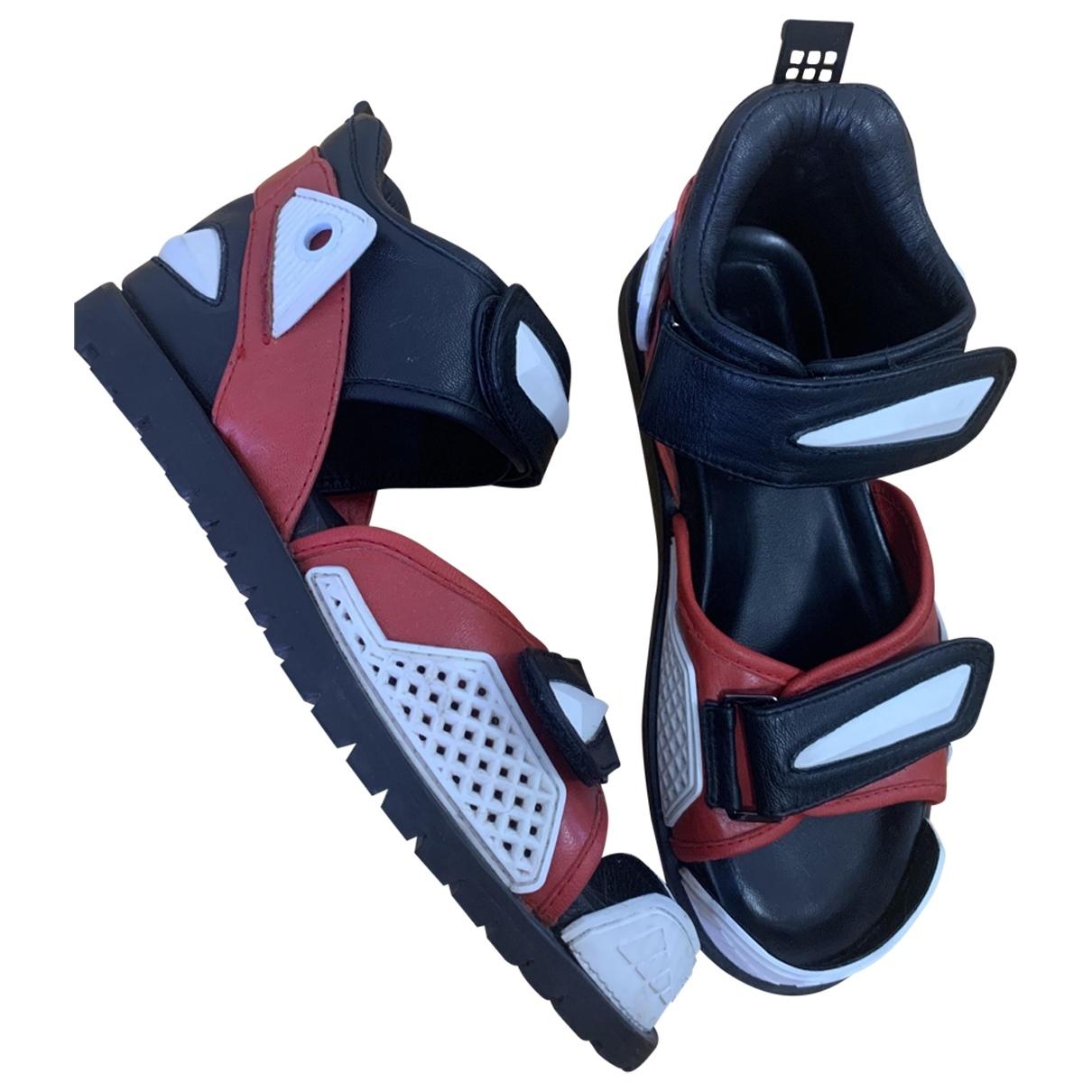 Ktz - Sandales   pour homme en cuir - noir