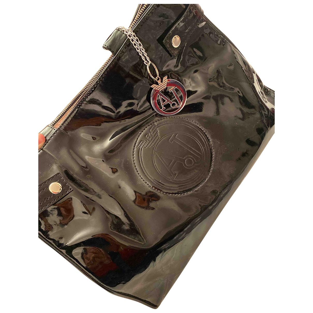 Armani Jeans N Black Patent leather handbag for Women N