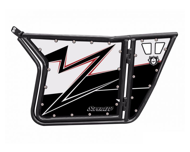 SuperATV GK071201-NC White Lightning Pro Armor without Cutouts 2 Door Graphics Polaris RZR S 800 09-14