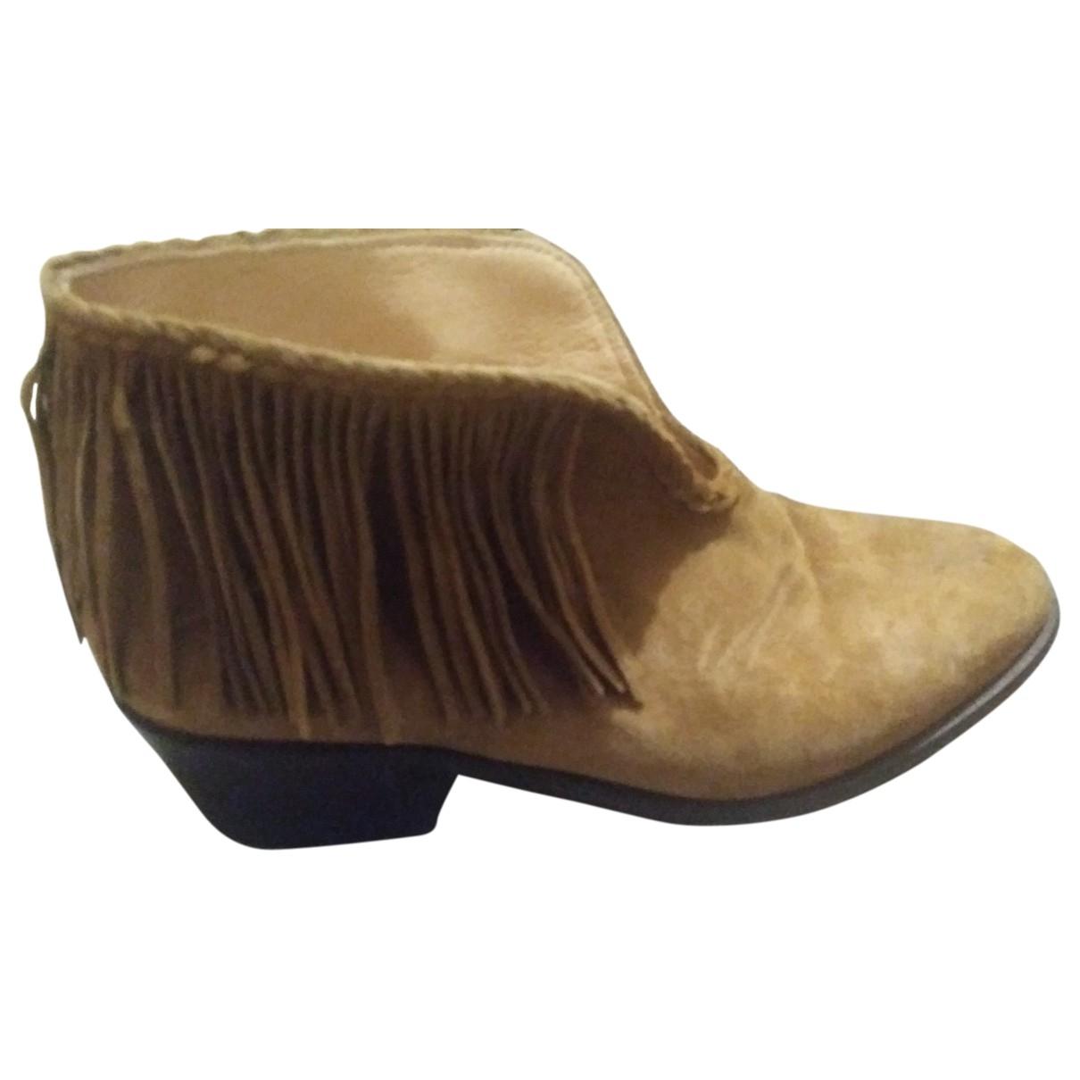 Pablo - Bottes   pour femme en cuir - camel