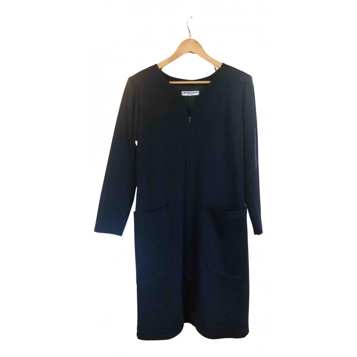 Yves Saint Laurent \N Kleid in  Marine Wolle