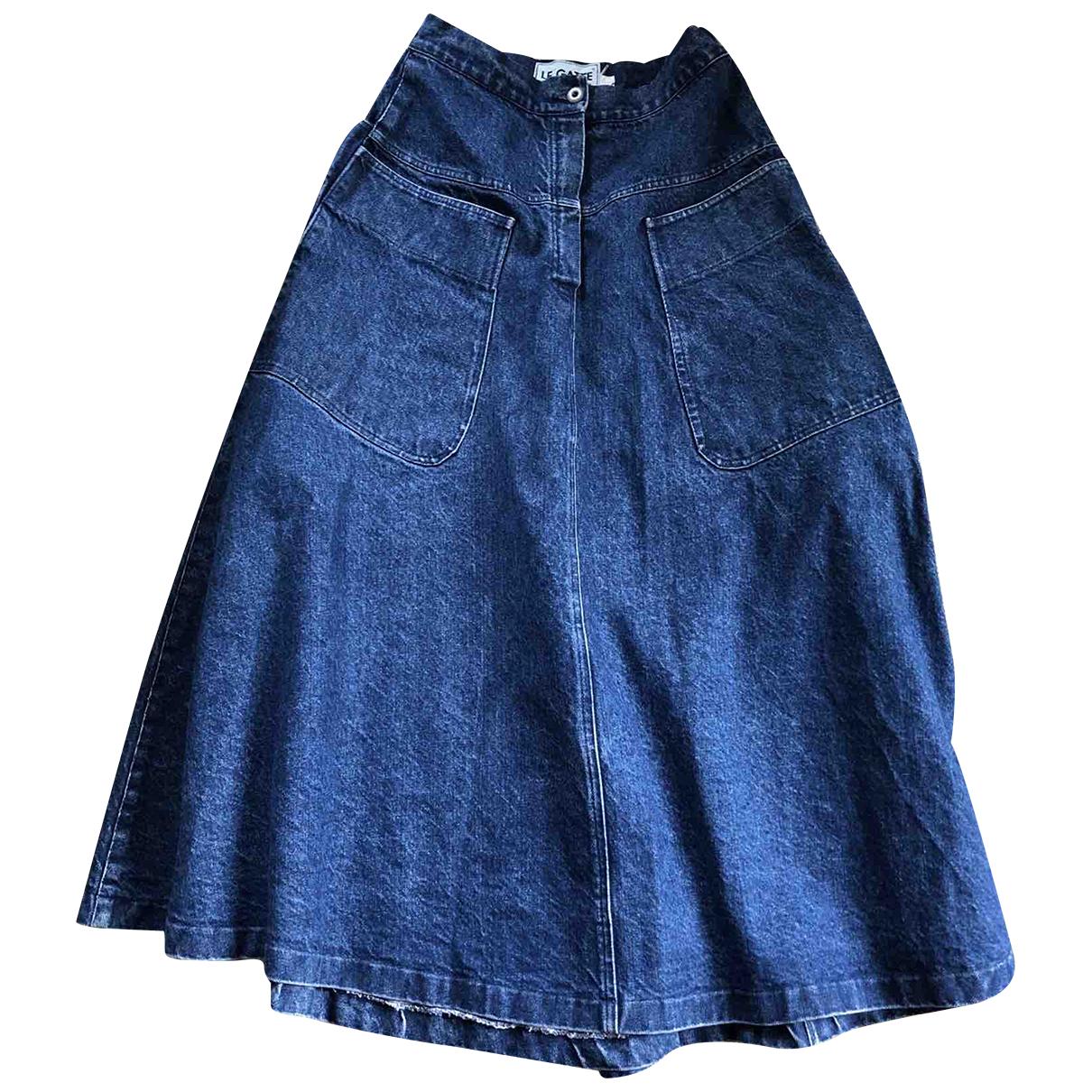 - Jupe Oversize pour femme en denim - bleu
