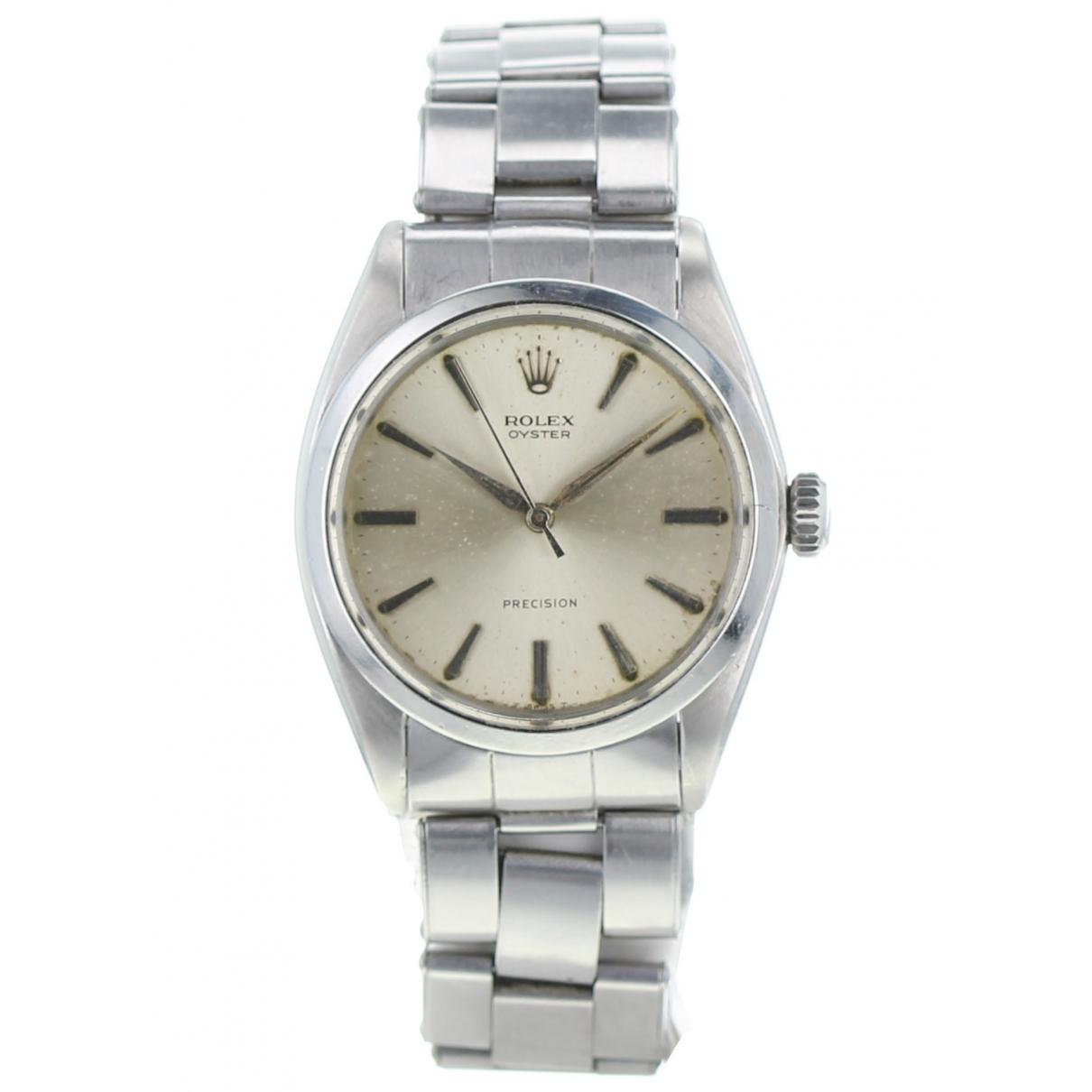 Rolex Oyster Perpetual 34mm Silver Steel watch for Men \N