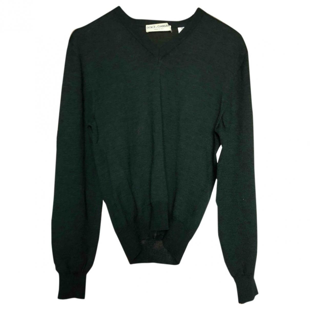 Dolce & Gabbana \N Green Wool Knitwear & Sweatshirts for Men 50 IT