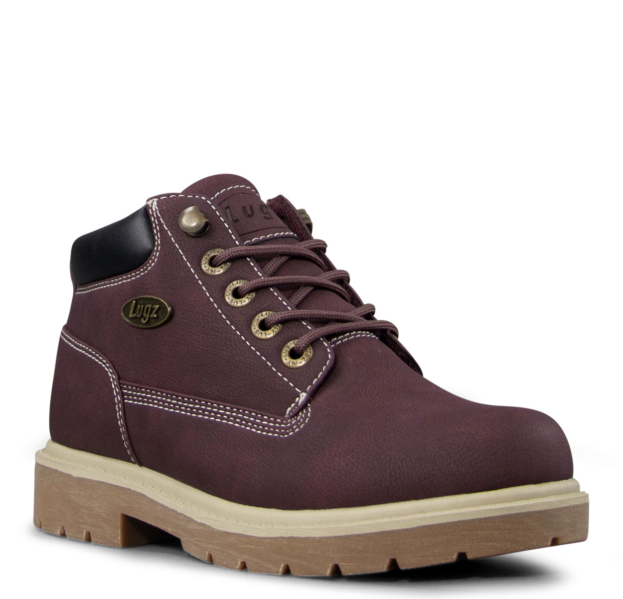 Women's Drifter Lx Chukka Boot (Choose Your Color: MAROON/BLACK/CREAM, Choose Your Size: 5.5)