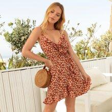 Cami Kleid mit Blumen Muster und Rueschen