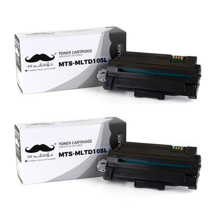 Compatible Samsung MLT-D105L cartouche de toner noire - Moustache - 2/paquet