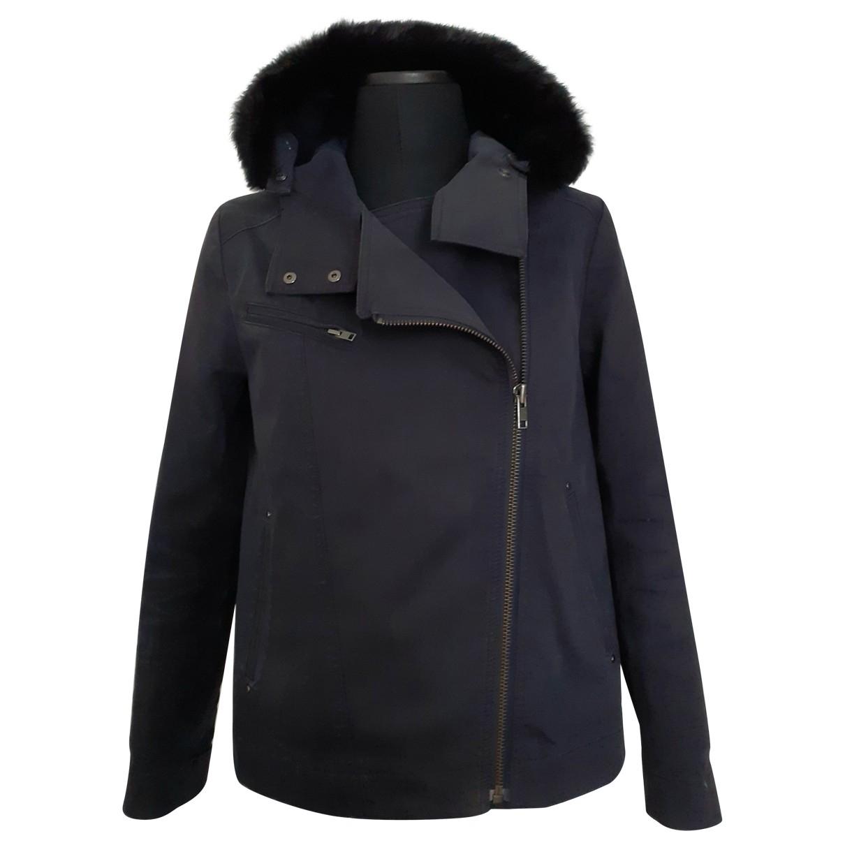 Comptoir Des Cotonniers - Manteau   pour femme en coton - marine