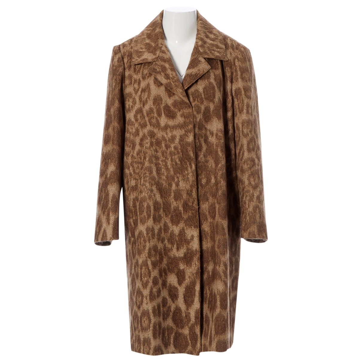 Prada \N Brown Wool coat for Women 44 IT