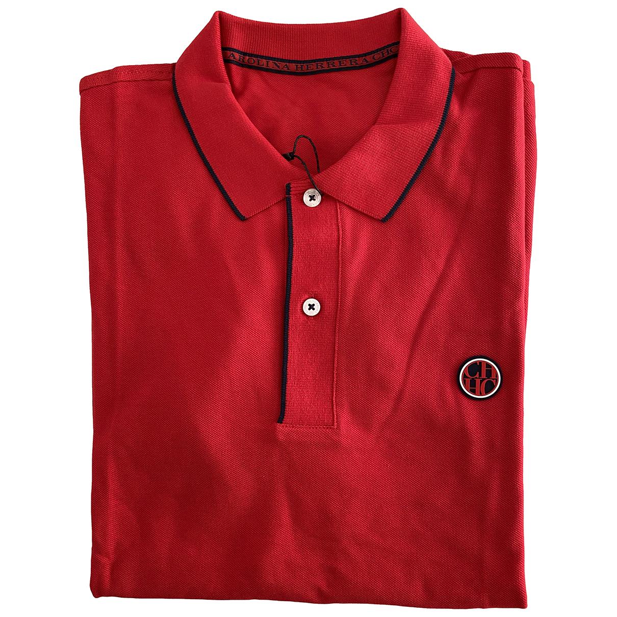 Carolina Herrera - Polos   pour homme en coton - rouge