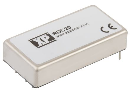 XP Power RDC 20W Isolated DC-DC Converter Through Hole, Voltage in 36 → 140 V dc, Voltage out 5V dc Railway