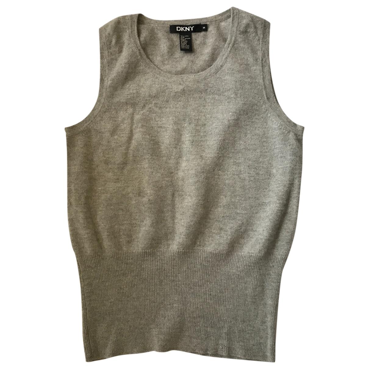 Dkny \N Top in  Grau Wolle